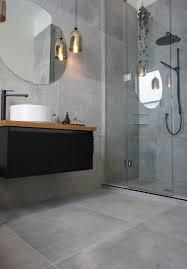 bathroom tile ideas nz. Simple Ideas Cat U0026 Jeremyu0027s Main Bathroom They Used A Large Format Tile Called Cementia  Grey 75 And Bathroom Tile Ideas Nz S