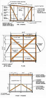 12x12 lean to storage shed plans details