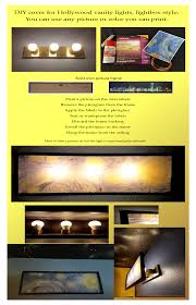 Diy Hollywood Light Cover Diy How To Make A Cover Shade For Builder Hollywood Vanity