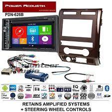 f150 navigation power acoustik double din dvd navigation bluetooth radio install kit harness nav fits f