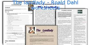 english teaching worksheets the landlady roald dahl the landlady roald dahl worksheets