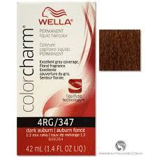 Wella Auburn Color Chart Wella Color Charm Permanent Liquid Hair Color 4rg 347 Dark Auburn