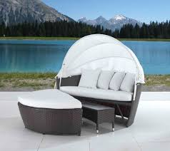 cool garden furniture. outdoor wicker covered loveseat cool patio furniture daybeds garden e