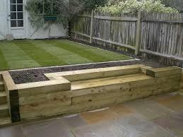 garden seating. Softwood Sleeper Garden Seat Seating