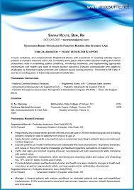 Nurse Resume Examples Wonderful Nurse Resume Sample New Grad Resume Sample Entry Level Rn Nurse