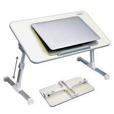 avantree quality adjule laptop table portable standing bed desk foldable sofa breakfast tray notebook stand reading holder for couch floor