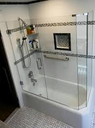 frameless glass door on your bathtub