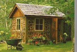 Charming Design Of Garden Tool Sheds : Fancy Design For Log Garden Tool Shed  Including Dark ...
