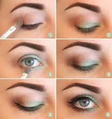 smoky eye makeup steps for a forest green color look