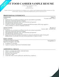 fast food cook resumes fast food restaurant manager resume sample restaurants cashierprep
