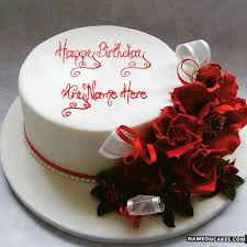 Romantic Birthday Cakes For Husband With Name Suitable Add Romantic
