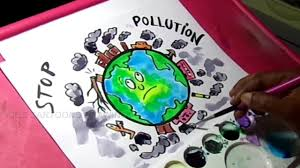 How To Make Chart On Pollution How To Draw Stop Pollution Color Poster Drawing
