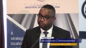 Nyanza Light Metals Donovan Chimhandamba Speech At Ceremonial Signing