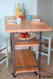 multifunctional furniture for small spaces. Build A Stylish DIY Multi-functional Table. Free Plans For Rolling Industrial Counter Multifunctional Furniture Small Spaces S