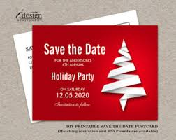 Christmas Party Save The Date Templates Save The Date Card Save The Date Christmas Party Invitation