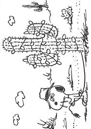 Kids N Fun Kleurplaat Charlie Brown Cactus