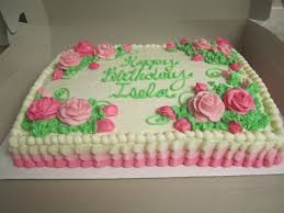 Decorated 1 2 Sheet cake by Think Sweet Cakes by Trisha
