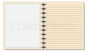 Notepad Template An Open Notepad Template Or Background Stock Vector Colourbox
