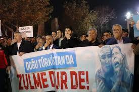 Doğu Türkistan zulmü Denizli'de protesto edildi