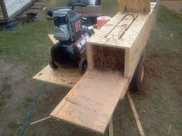 discharge of my pneumatic pine straw baler homemade
