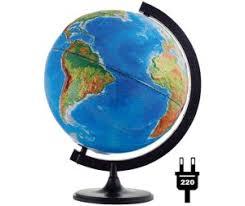 <b>Глобусный мир Глобус физико</b>-<b>политический</b> рельефный 32 см с ...