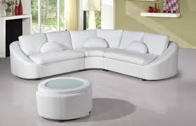 modern white bonded sectional sofa for