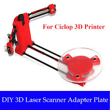 diy 3d scanner open source laser plate kit w adapter object for ciclop printer 1 of 12only 0 available