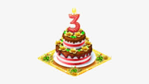 3rd Birthday 3rd Happy Birthday Cake Png 414x390 Png Download