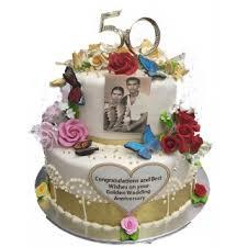 2 Tiers Anniversary Cake Design Mei Yu Cakes