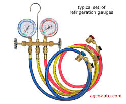 air conditioning gauges. air conditioner gauges used to diagnose problems and charge the system conditioning l