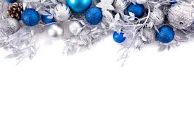 Branches decoration with silver and blue christmas balls Free Photo