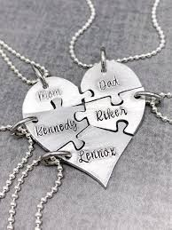 5 piece heart puzzle necklace 5 puzzle