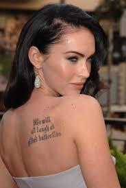 Megan Fox Beauty Secrets Megan Fox Tattoo Fox Tattoo Megan Fox