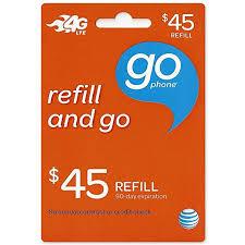 45 dollar att go phone refill card