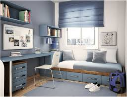 Bedroom Astounding Blue White Theme Furniture Design With White Blue Wall  Scheme Paint Color Also Modern Blue Cherry Wood Storage Bed And Brown  Laminate ...