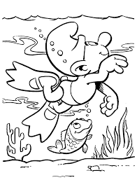The Smurf Coloring Pages For Kids