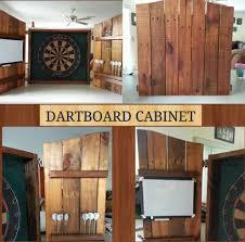 reclaimed wood pallet bench. Rustic Dartboard Cabinet Made From Recycled Wood Pallet Reclaimed Bench