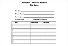 Sample Bid Sheets For Silent Auction 15 Silent Auction Bid Sheets Templates Payroll Slip