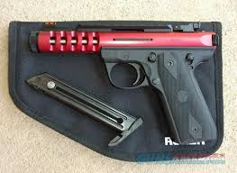 ruger 22 45 lite with red anodized slide 22lr for