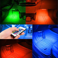 Coloured Interior Car Lights Details About Led Car Interior Floor Lights Under Dash Red Green Blue Pink Purple White