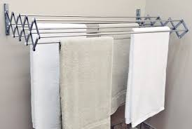 Laundry Drying Rack Expandable Wall Mounted Accordion Style In Addition To  Stunning Wall Mounted Clothes Drying