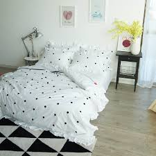 polka dot bedding sets queen size embroidery duvet cover twin cotton bed sheets 4 piece bed