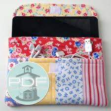 Pinterest & Fabric Case Sewing Pattern for iPad Mini or Kindle Adamdwight.com