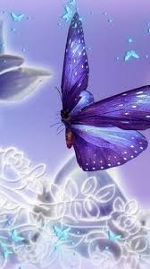Android Wallpaper Hd Purple Butterfly ...