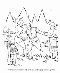 Pilgrims And Indians Coloring Pages | Coloring Pages Kids Collection