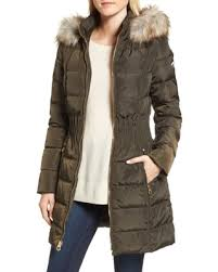 Amazing Deal on Women's Laundry By Shelli Segal Hooded Quilted ... & Women's Laundry By Shelli Segal Hooded Quilted Jacket With Faux Fur Trim,  Size X- Adamdwight.com