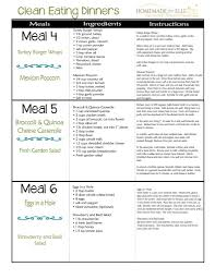 weekly meal planning for two clean eating meal plans archives homemade for elle