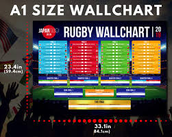 My Chart Tmc Japan Rugby Tournament Wallchart 2019 Premium Quality A2 A1 Wall Chart To Track The Results And Progress A1 Folded