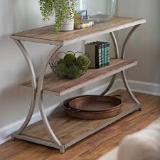 belham living edison reclaimed wood console table  console tables