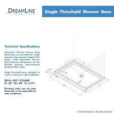 shower door threshold white slimline x shower base with single threshold and 3 1 4 left hand drain sterling shower door threshold seal